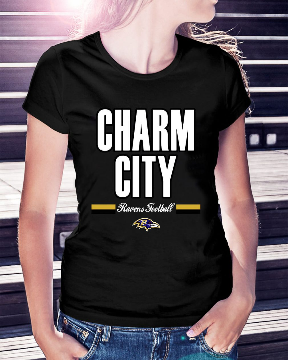 Charm city Ravens football Ladies Tee