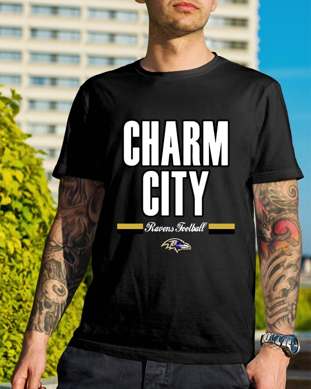 Charm city Ravens football shirt