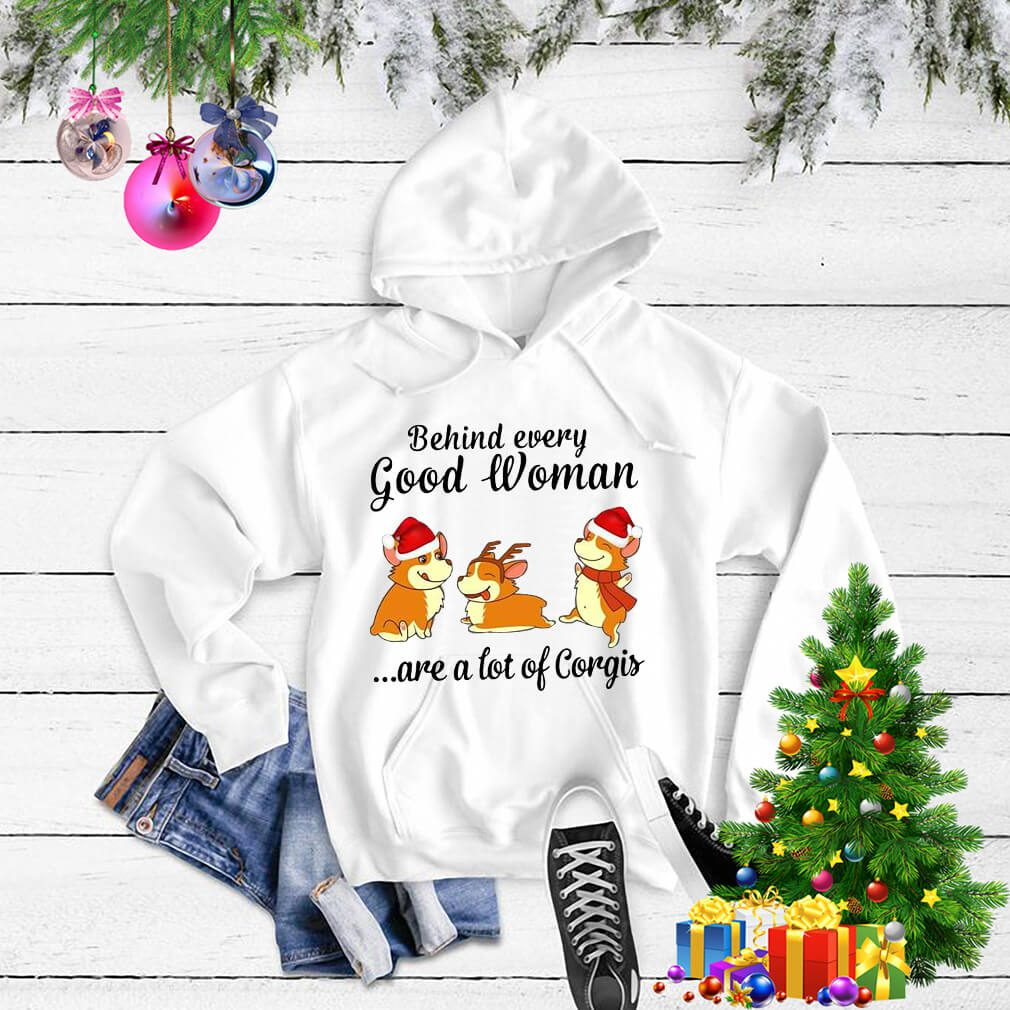 Christmas behind every good woman are a lot of Corgis shirt, sweater