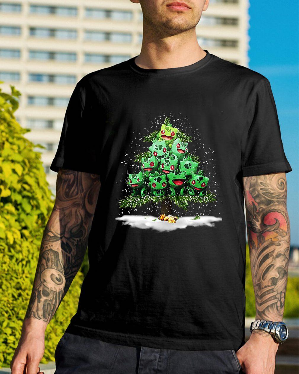 Christmas Bulbasaur Pokemon Christmas tree Guys Shirt
