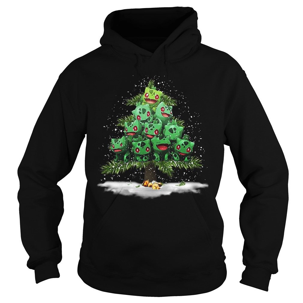 Christmas Bulbasaur Pokemon Christmas tree Hoodie