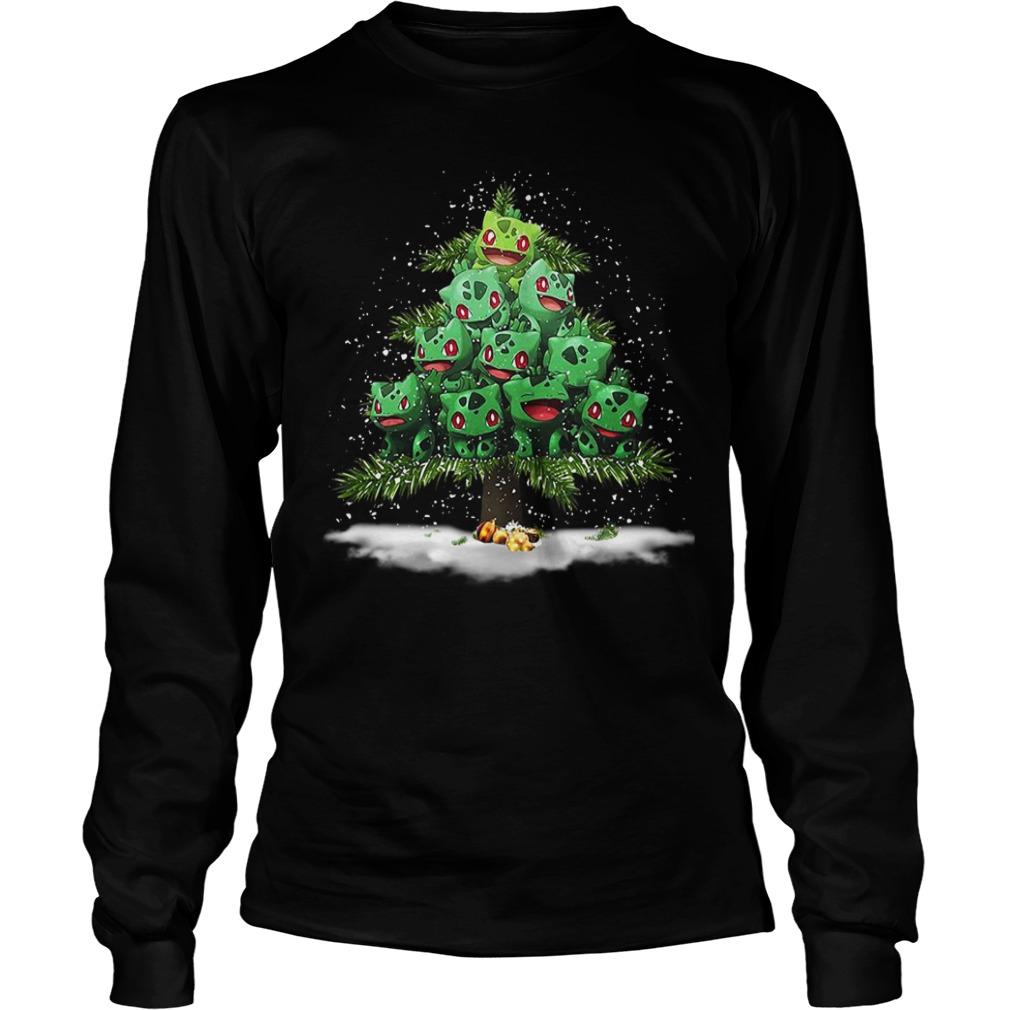 Christmas Bulbasaur Pokemon Christmas tree Longsleeve Tee