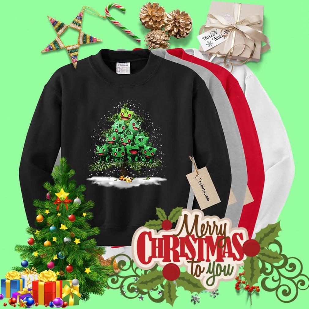 Christmas Bulbasaur Pokemon Christmas tree shirt, sweater
