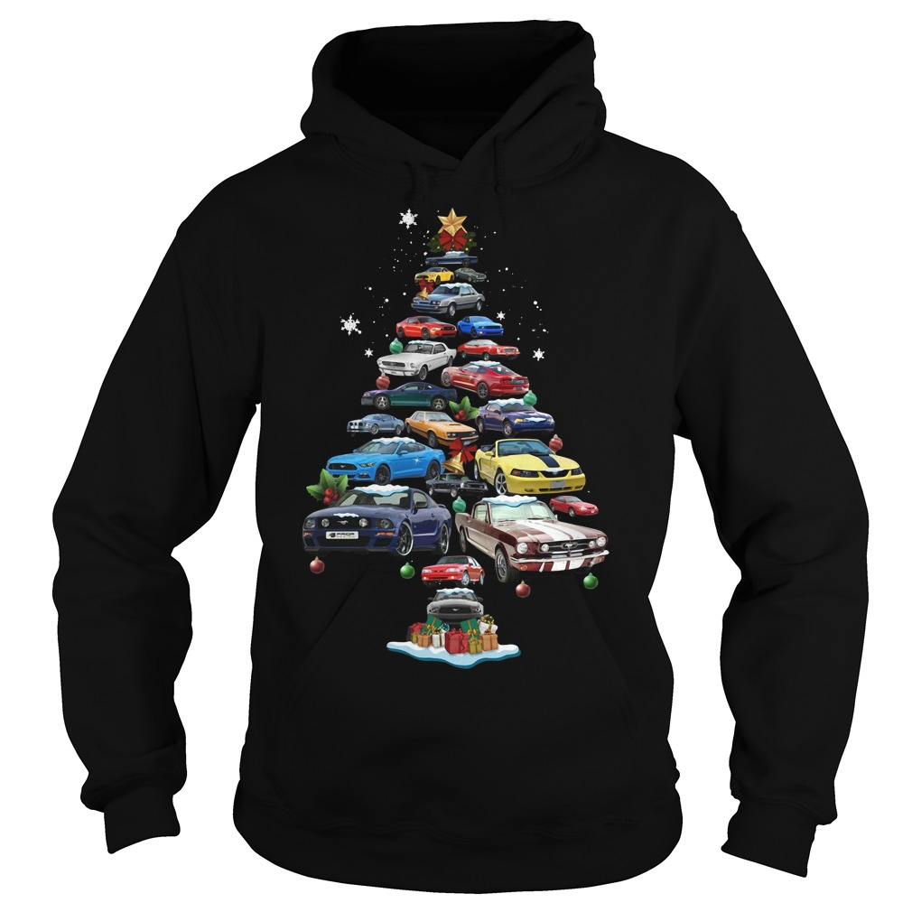 Christmas Corvette car Christmas tree Hoodie
