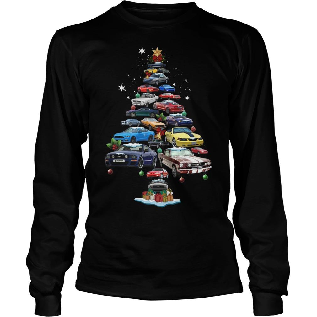 Christmas Corvette car Christmas tree Longsleeve Tee