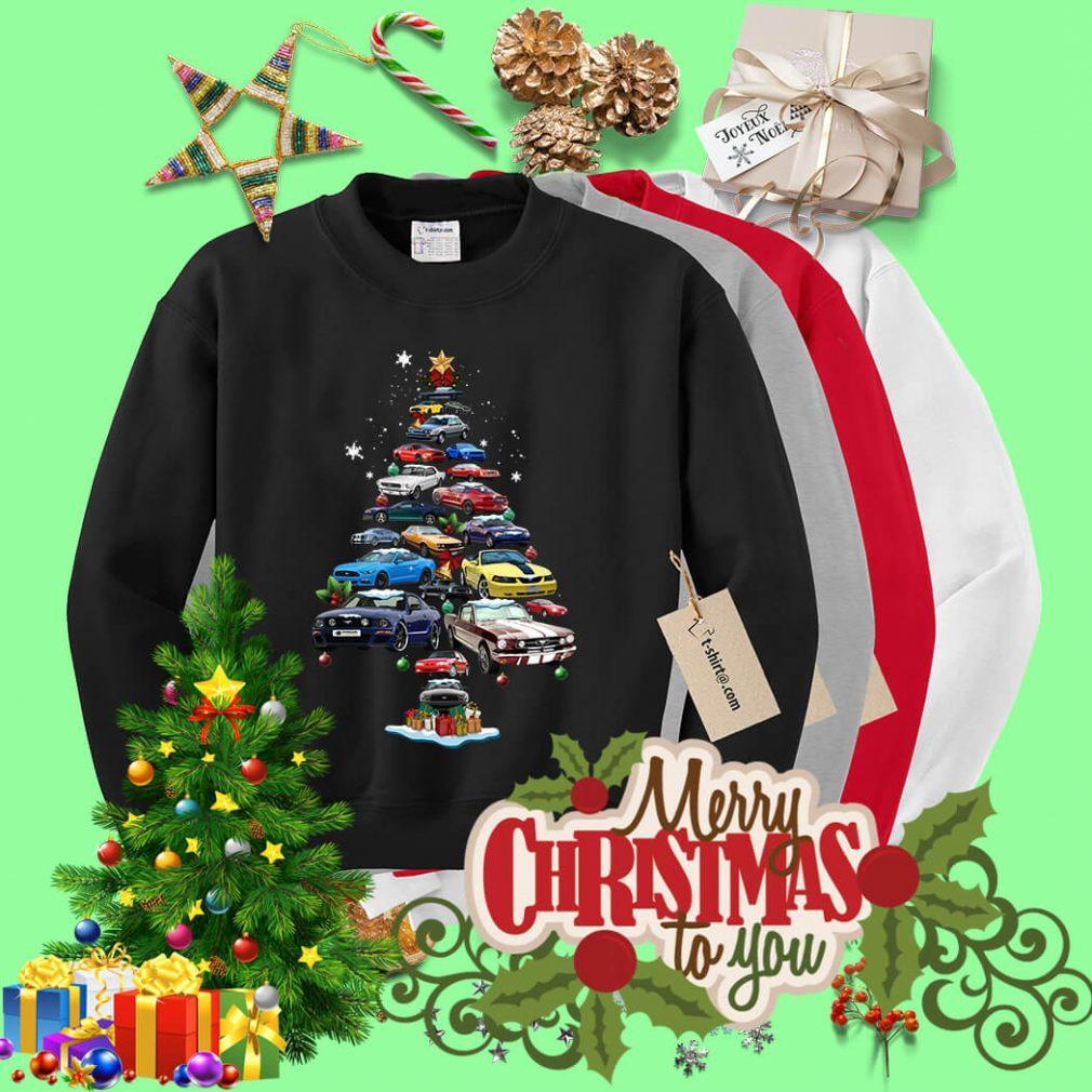Christmas Corvette car Christmas tree shirt, sweater