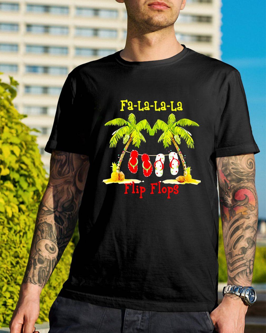 Christmas Fa-la-la-la flip flops Guys Shirt