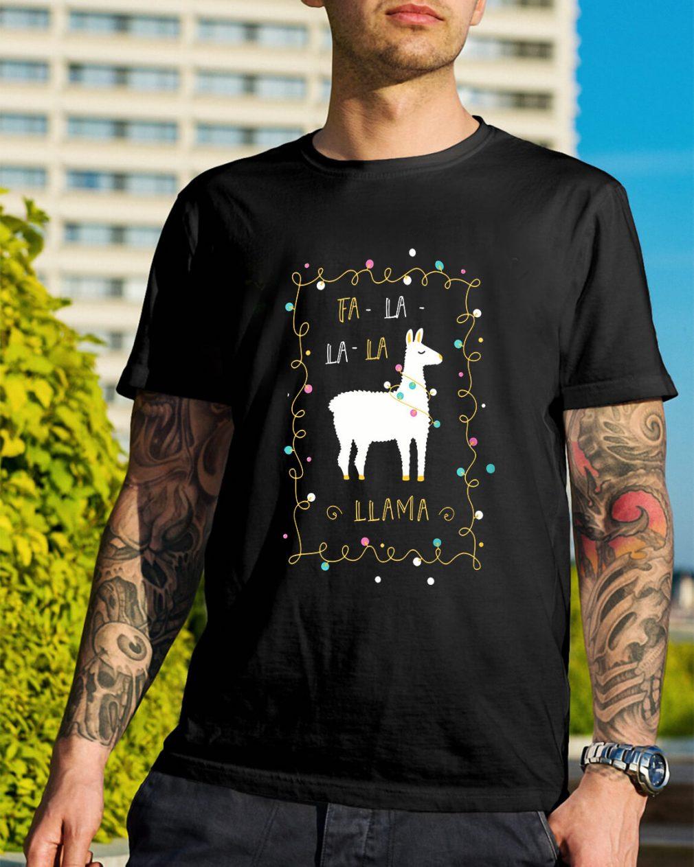 Christmas Fa-la la-la Llama Guys Shirt