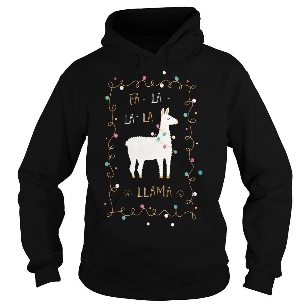 Christmas Fa-la la-la Llama Hoodie