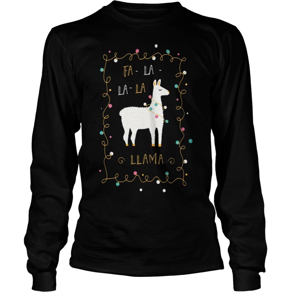 Christmas Fa-la la-la Llama Longsleeve Tee