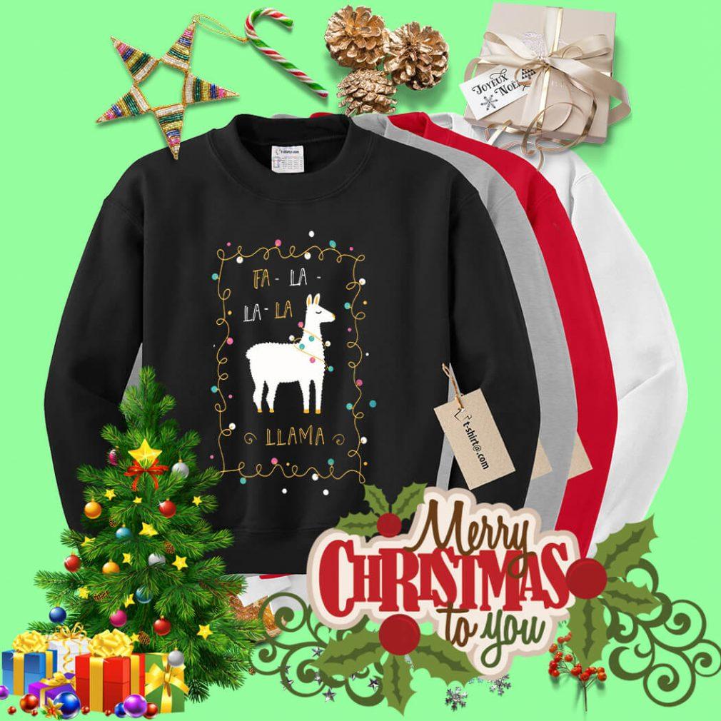 Christmas Fa-la la-la Llama shirt, sweater