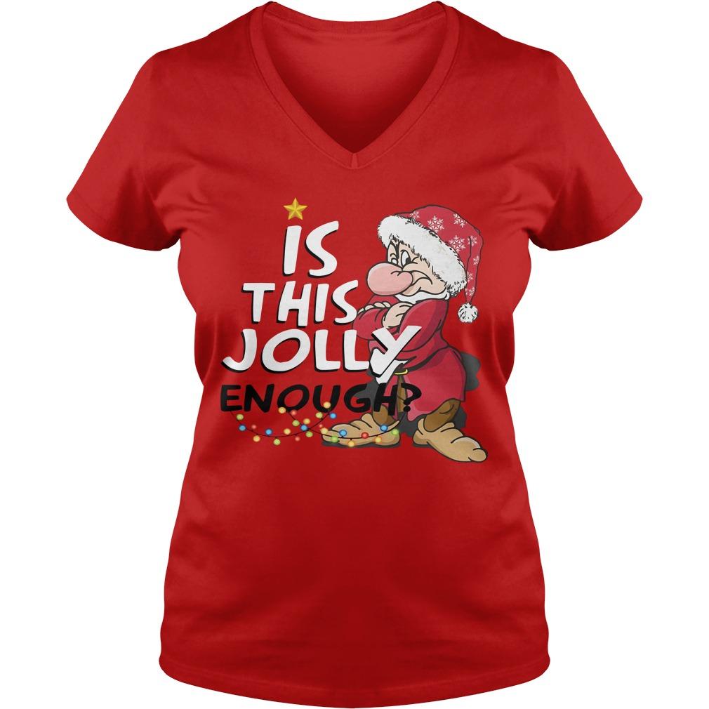 Christmas Grumpy Santa is this jolly enough V-neck T-shirt