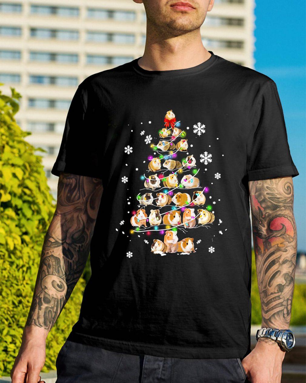 Christmas Guinea pig Christmas tree Guys Shirt