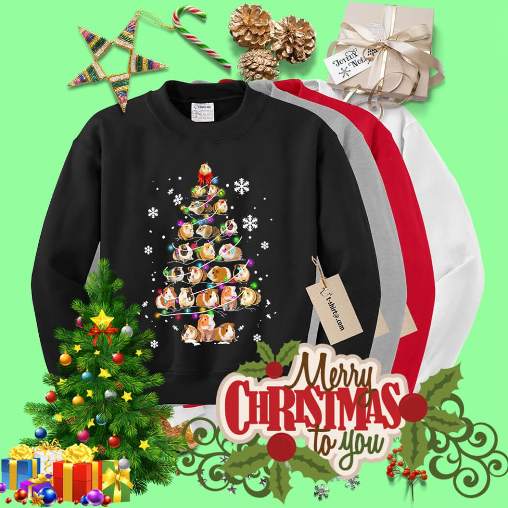 Christmas Guinea pig Christmas tree shirt, sweater
