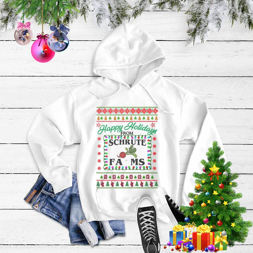 Christmas happy holidays from Schrute farms shirt, sweater