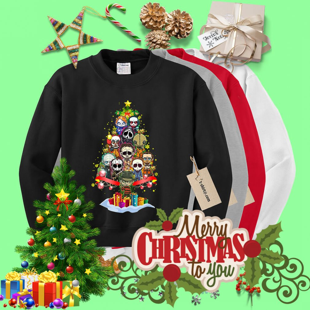 Christmas Horror chibi Christmas tree shirt, sweater