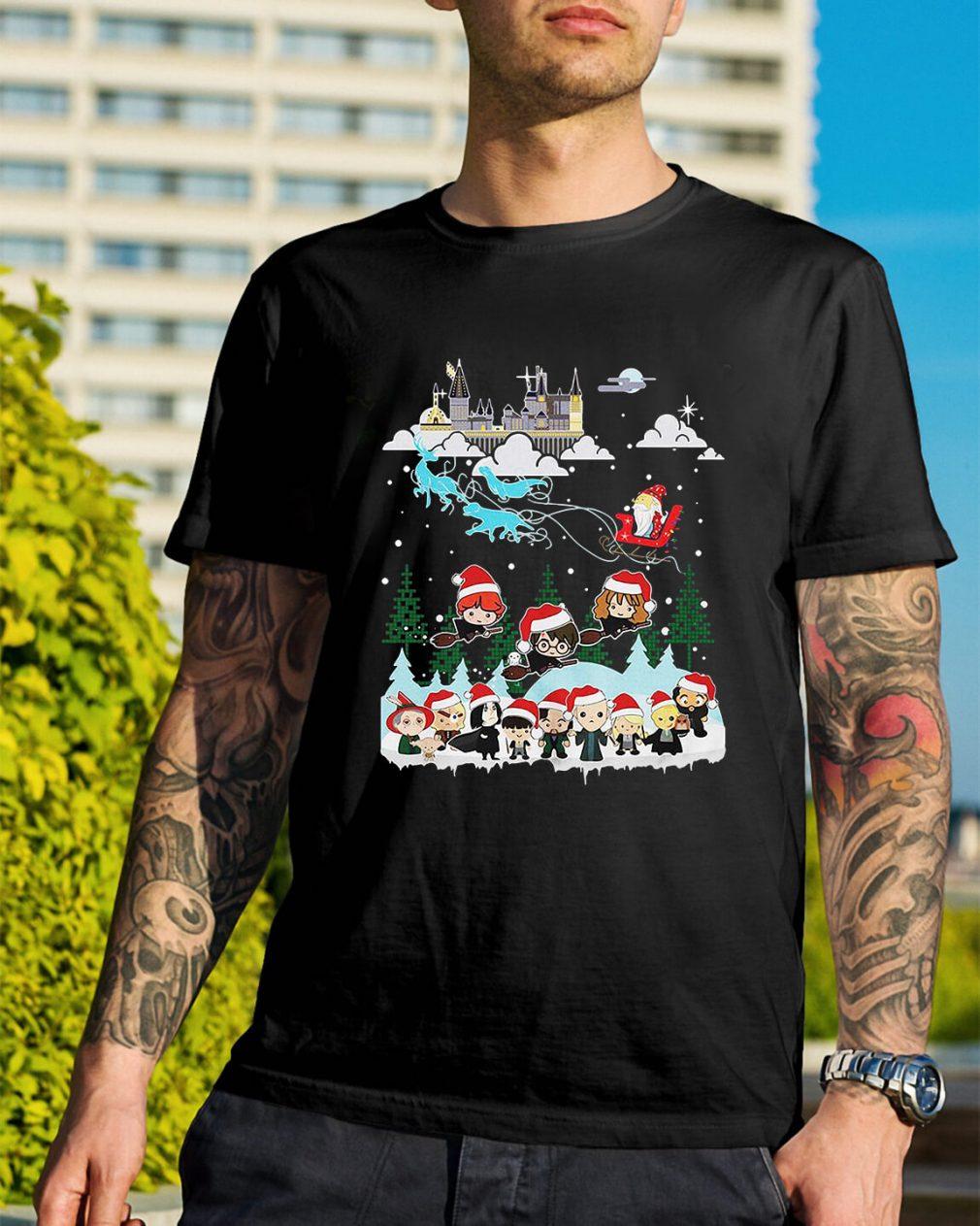 Christmas In Hogwarts Chibi Harry Potter Version Guys Shirt