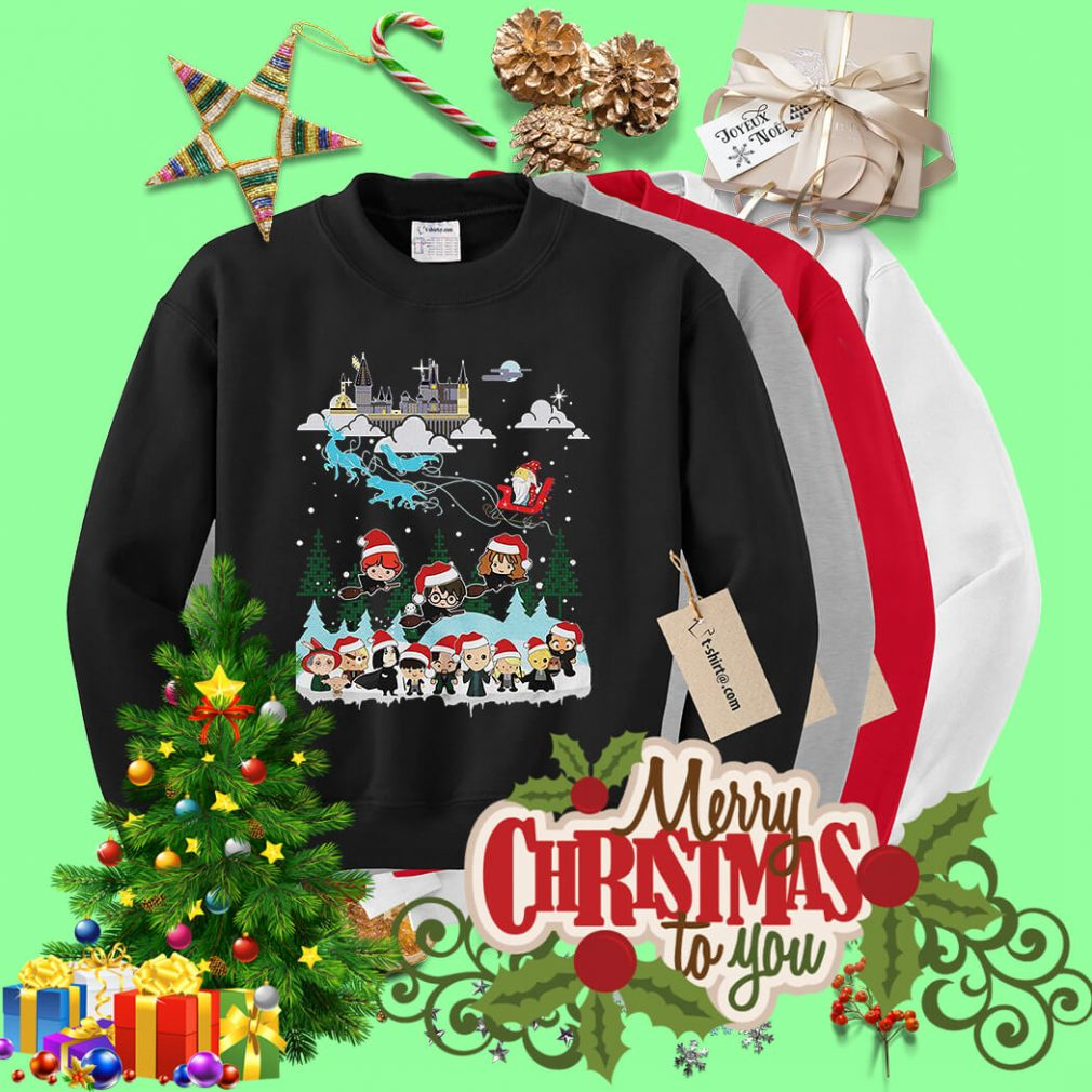 Christmas In Hogwarts Chibi Harry Potter Version shirt, sweater