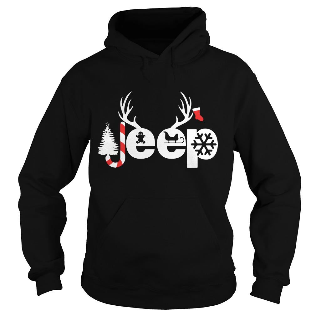 Christmas Jeep Xmas snow candy Reindeer Christmas tree Hoodie