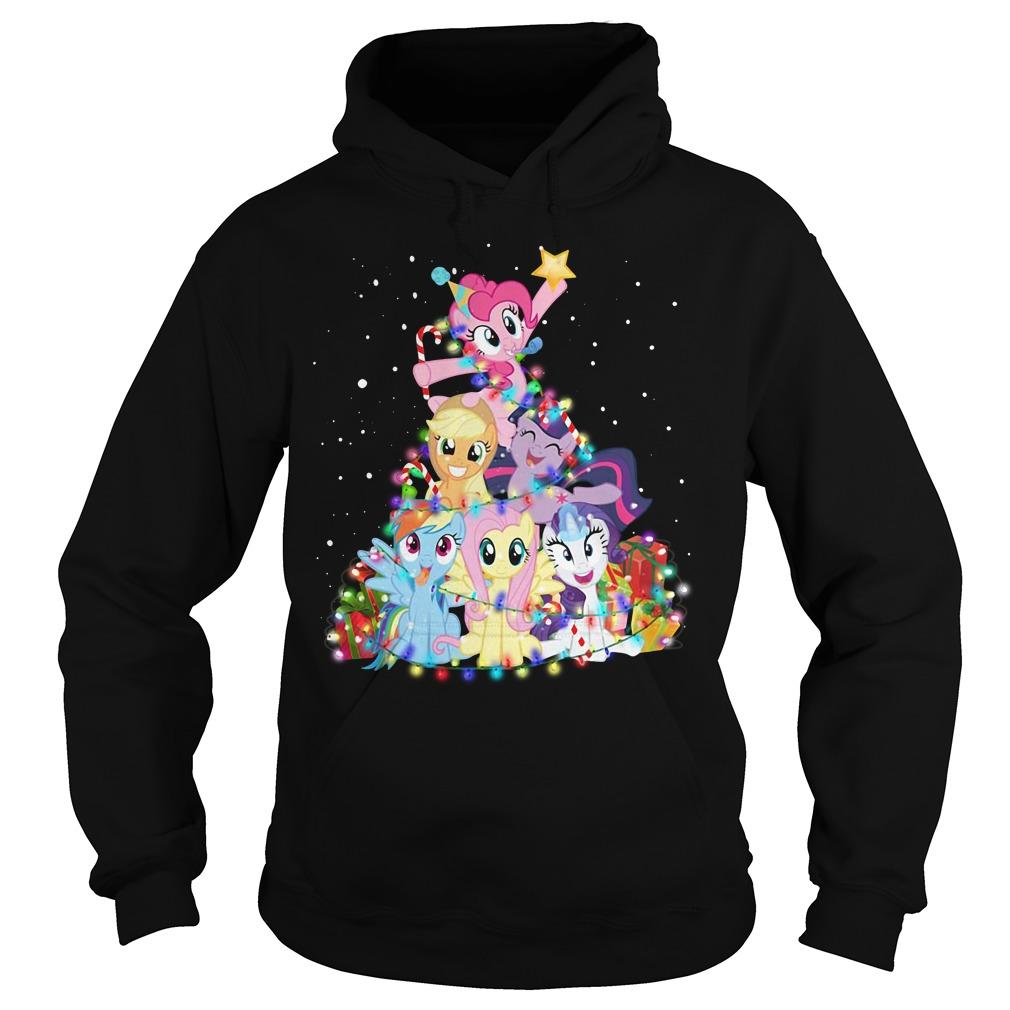 Christmas My Little Pony Christmas tree Hoodie