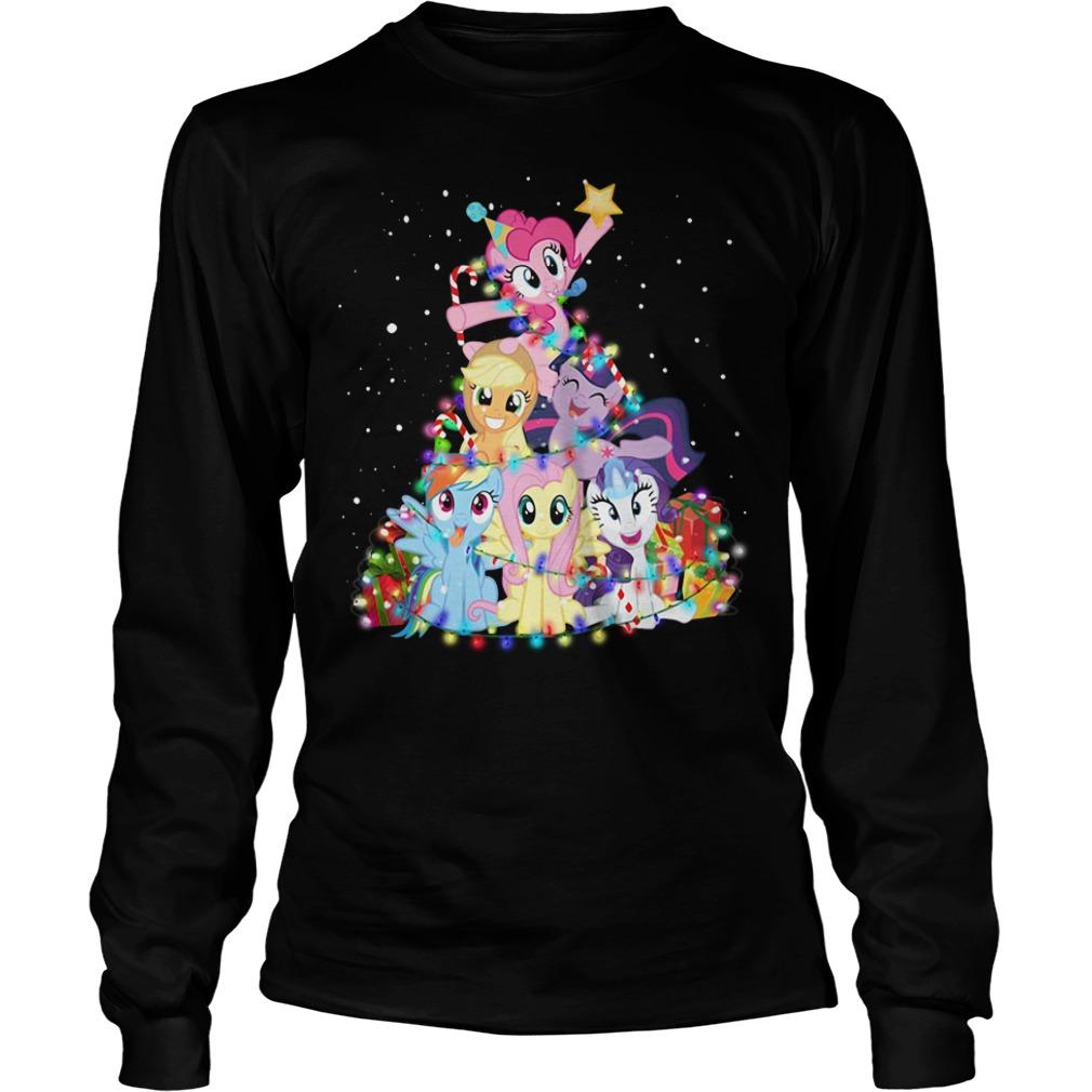 Christmas My Little Pony Christmas tree Longsleeve Tee