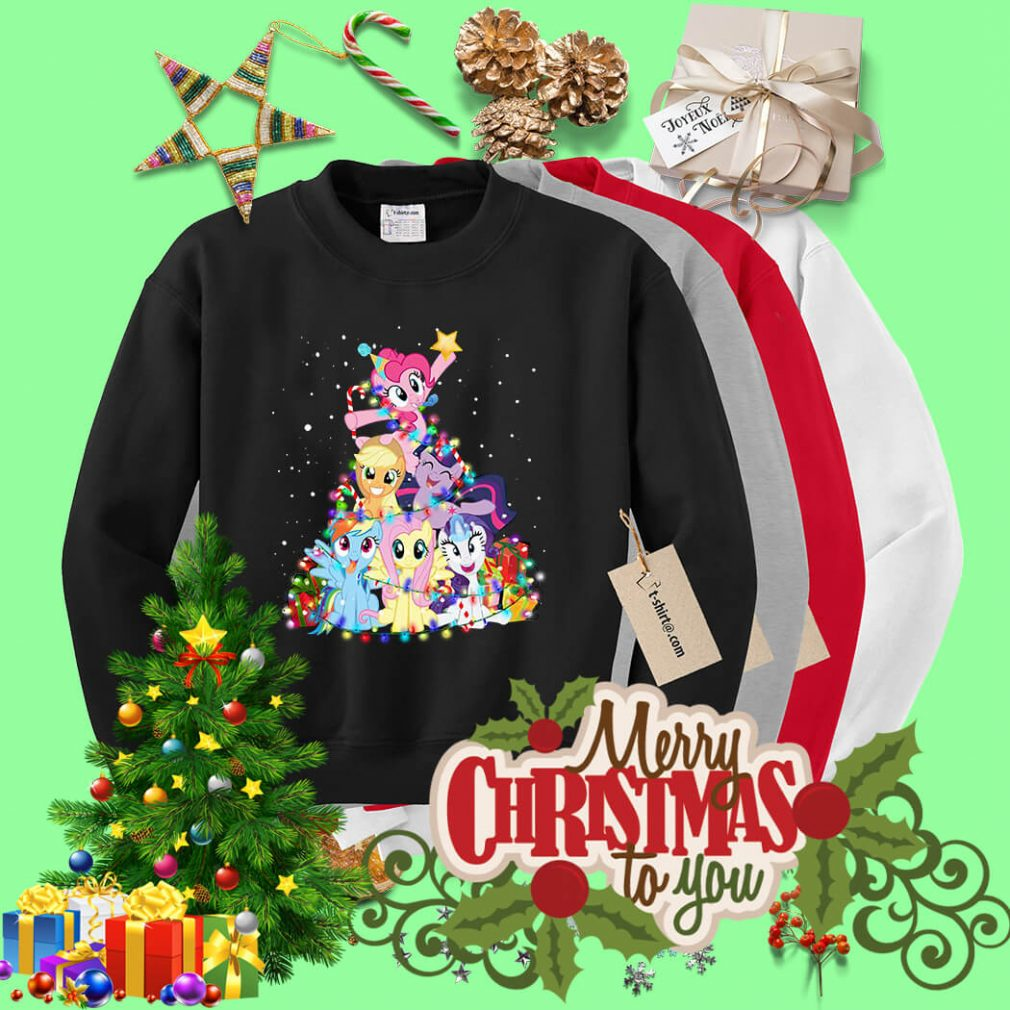 Christmas My Little Pony Christmas tree shirt, sweater