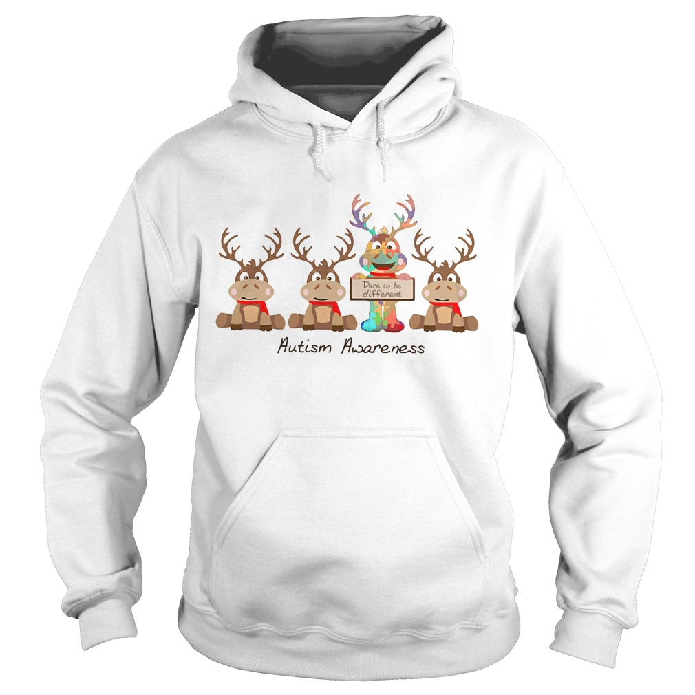 Christmas Reindeer autism awareness Hoodie