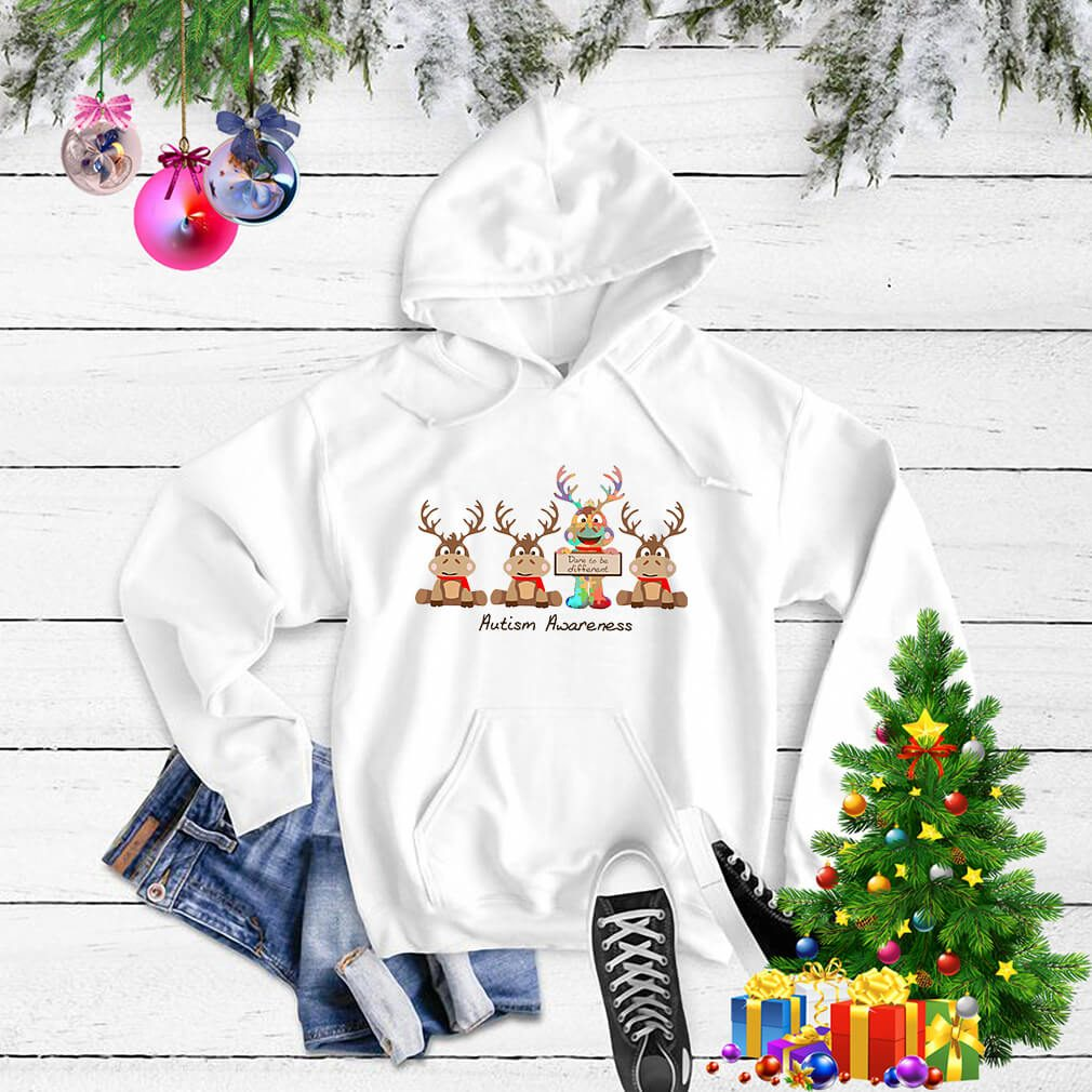 Christmas Reindeer autism awareness shirt, sweater