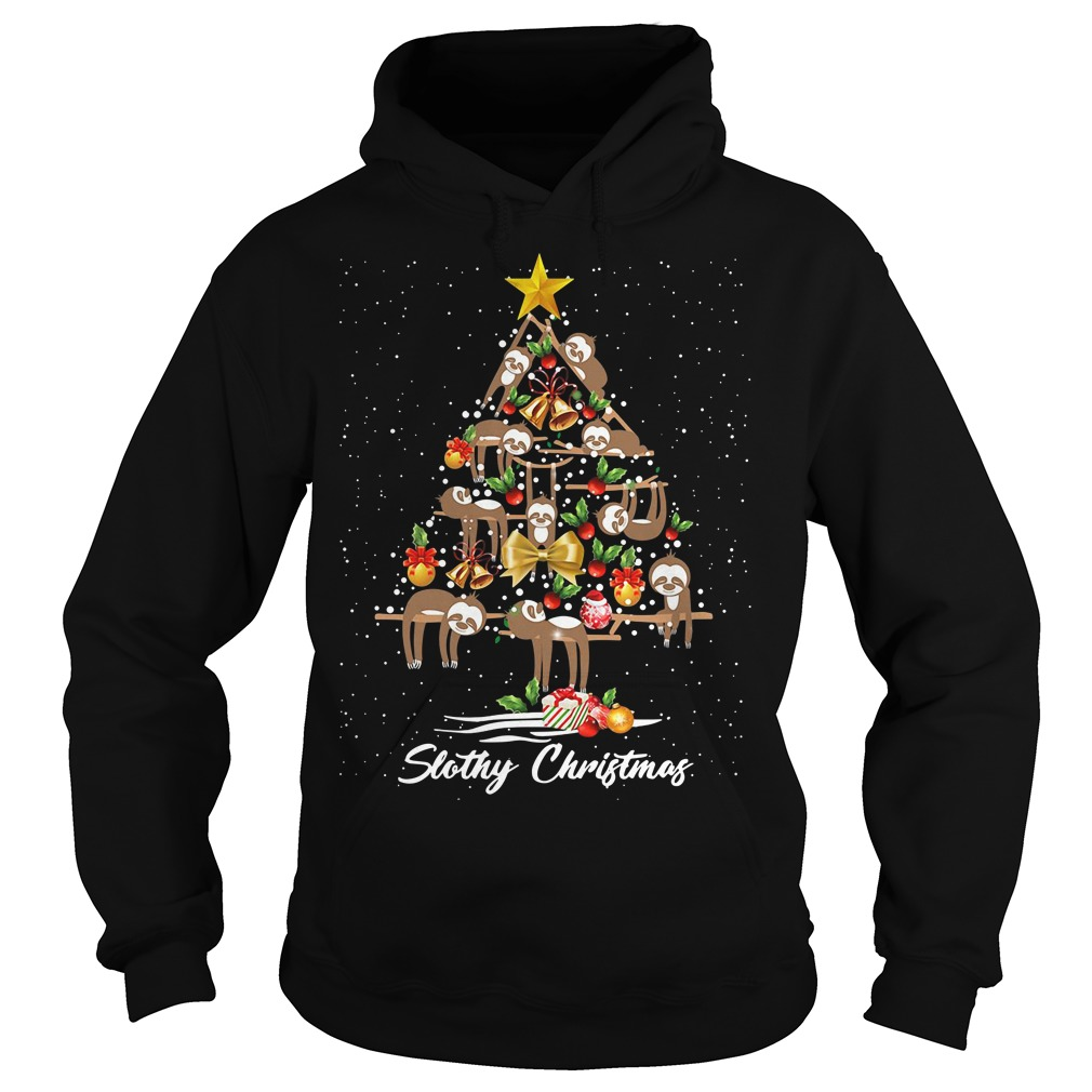 Christmas Slothy Christmas tree Hoodie