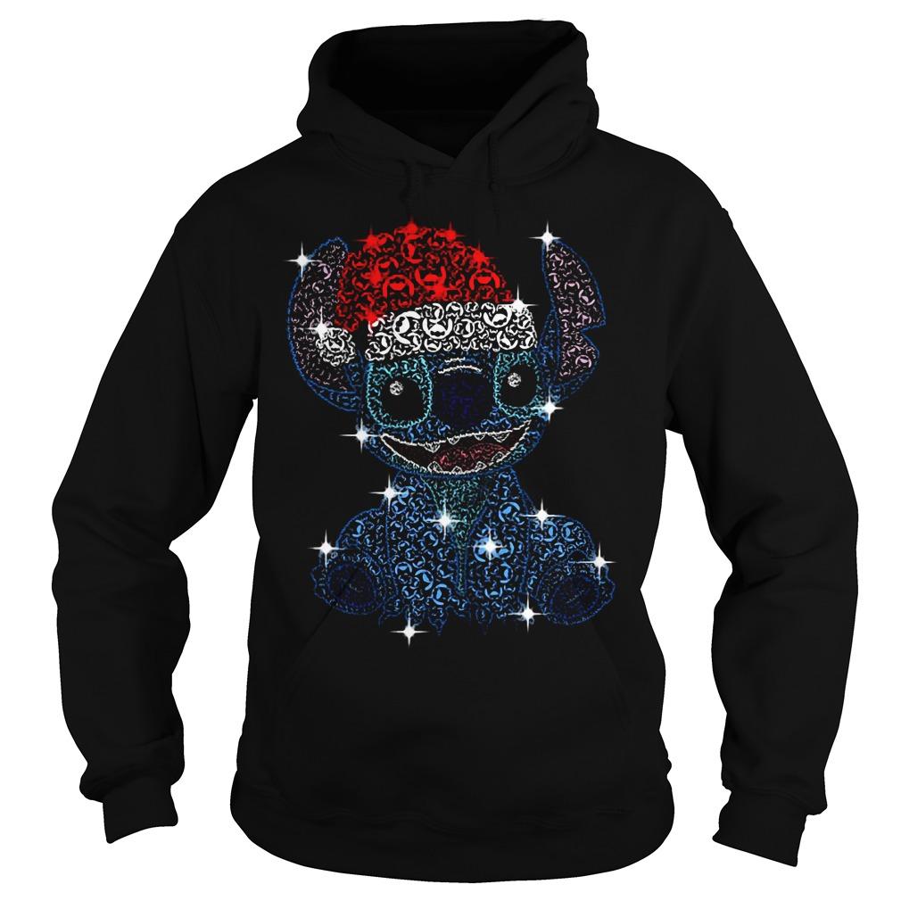 Christmas Stitch Jack Skellington rhinestone Santa hat Hoodie