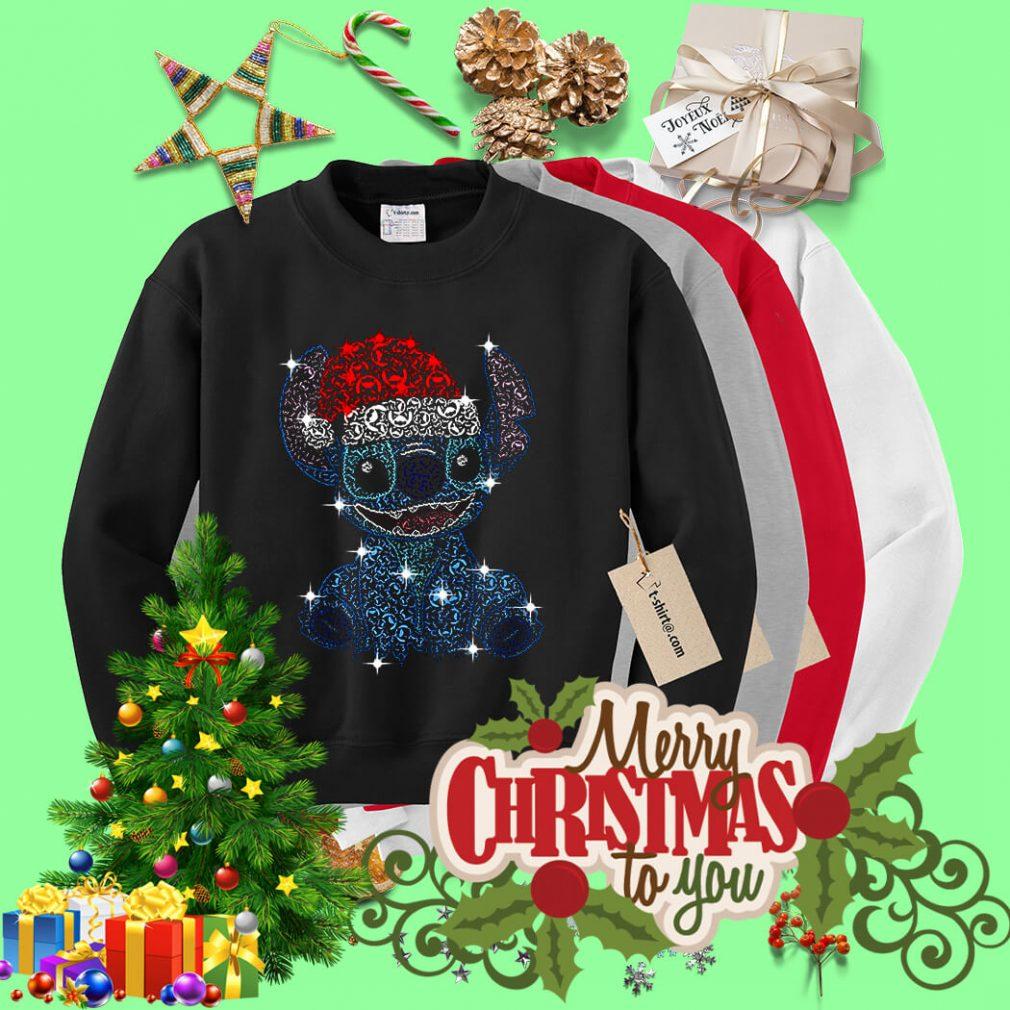Christmas Stitch Jack Skellington rhinestone Santa hat shirt, sweater