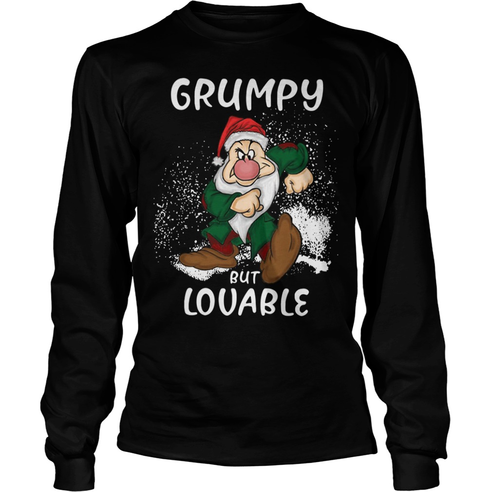 Christmas The Grinch Grumpy but Lovable Longsleeve Tee