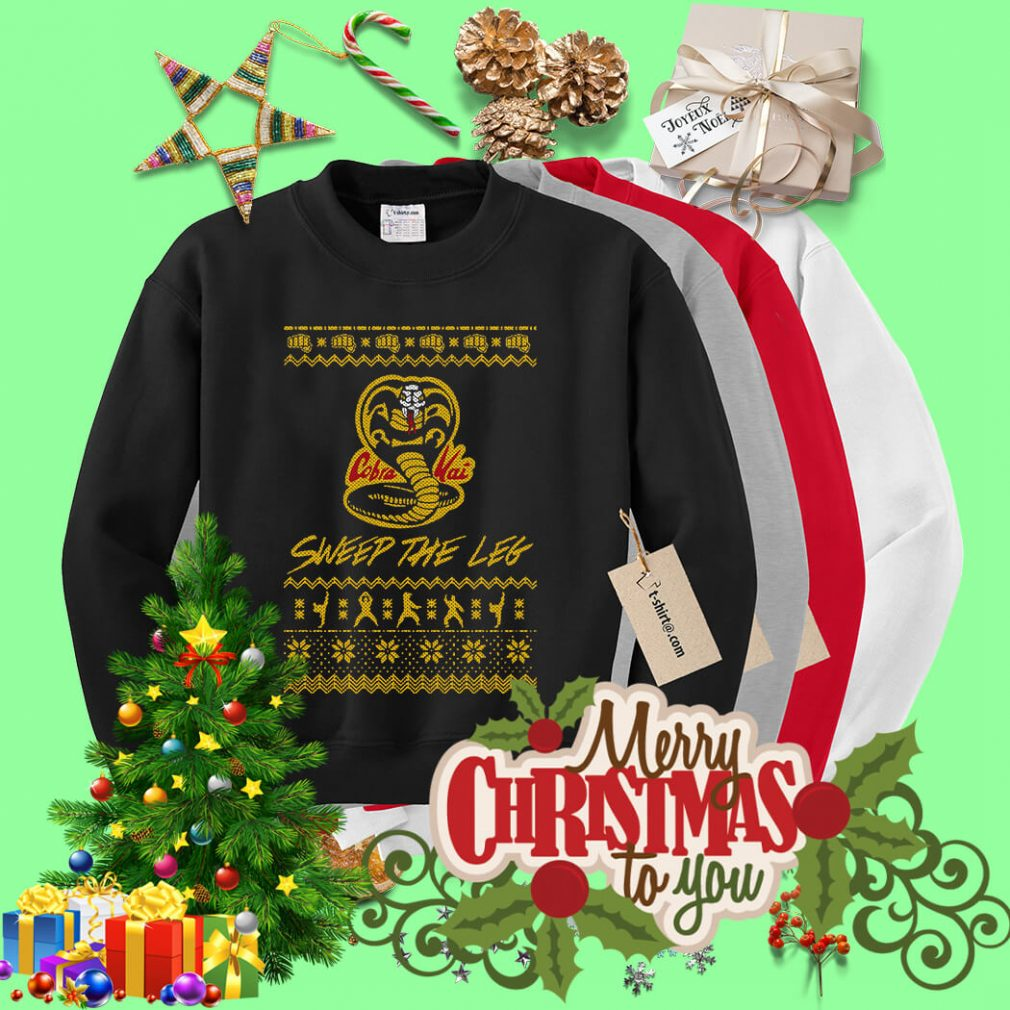Christmas the Leg Karate Dojo Cobra Kai sweep the leg shirt, sweater