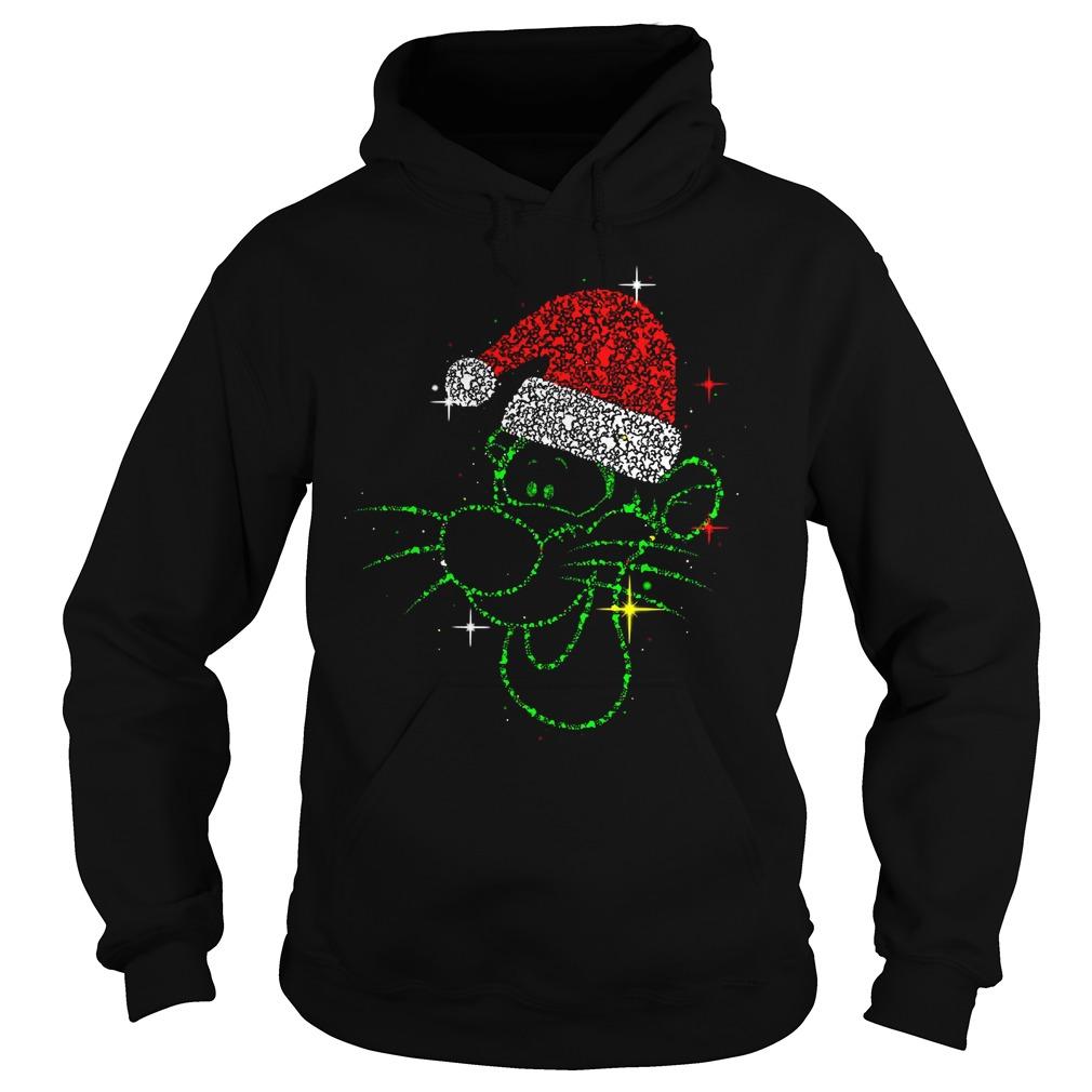 Christmas Tigger rhinestone Santa hat Hoodie