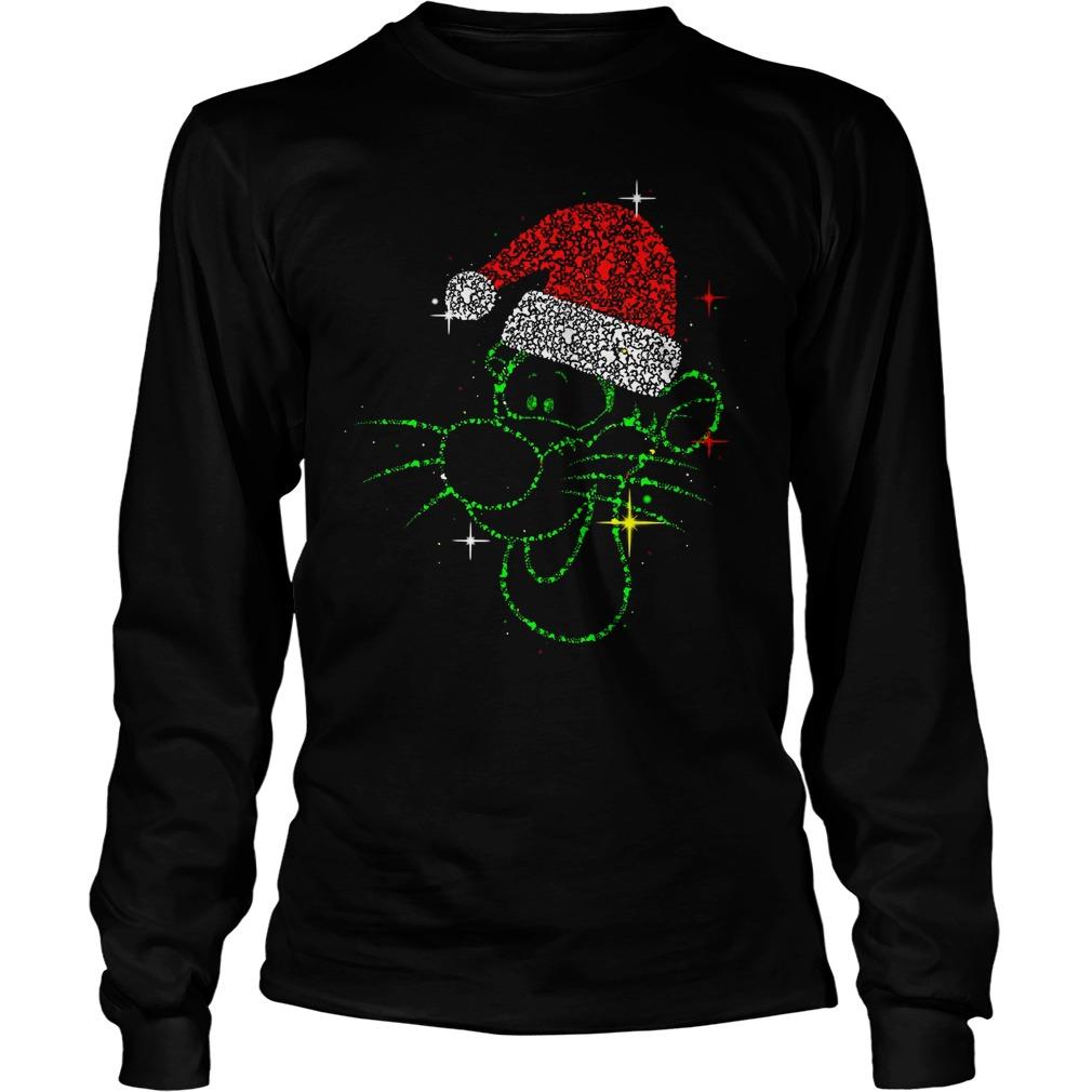 Christmas Tigger rhinestone Santa hat Longsleeve Tee