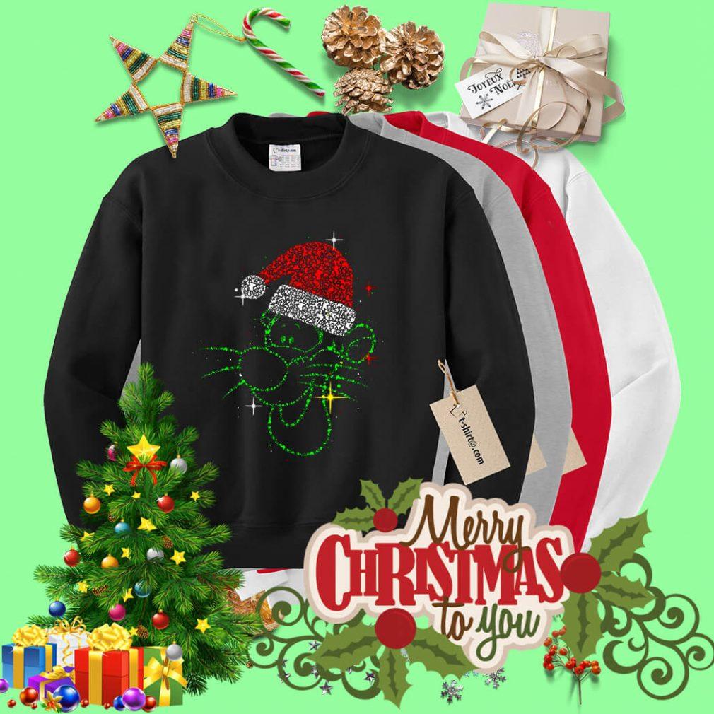 Christmas Tigger rhinestone Santa hat shirt, sweater