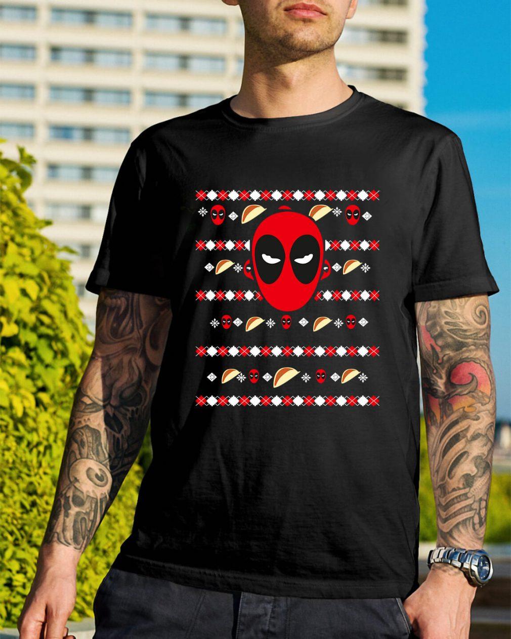 Deadpool's ugly Christmas Guys Shirt