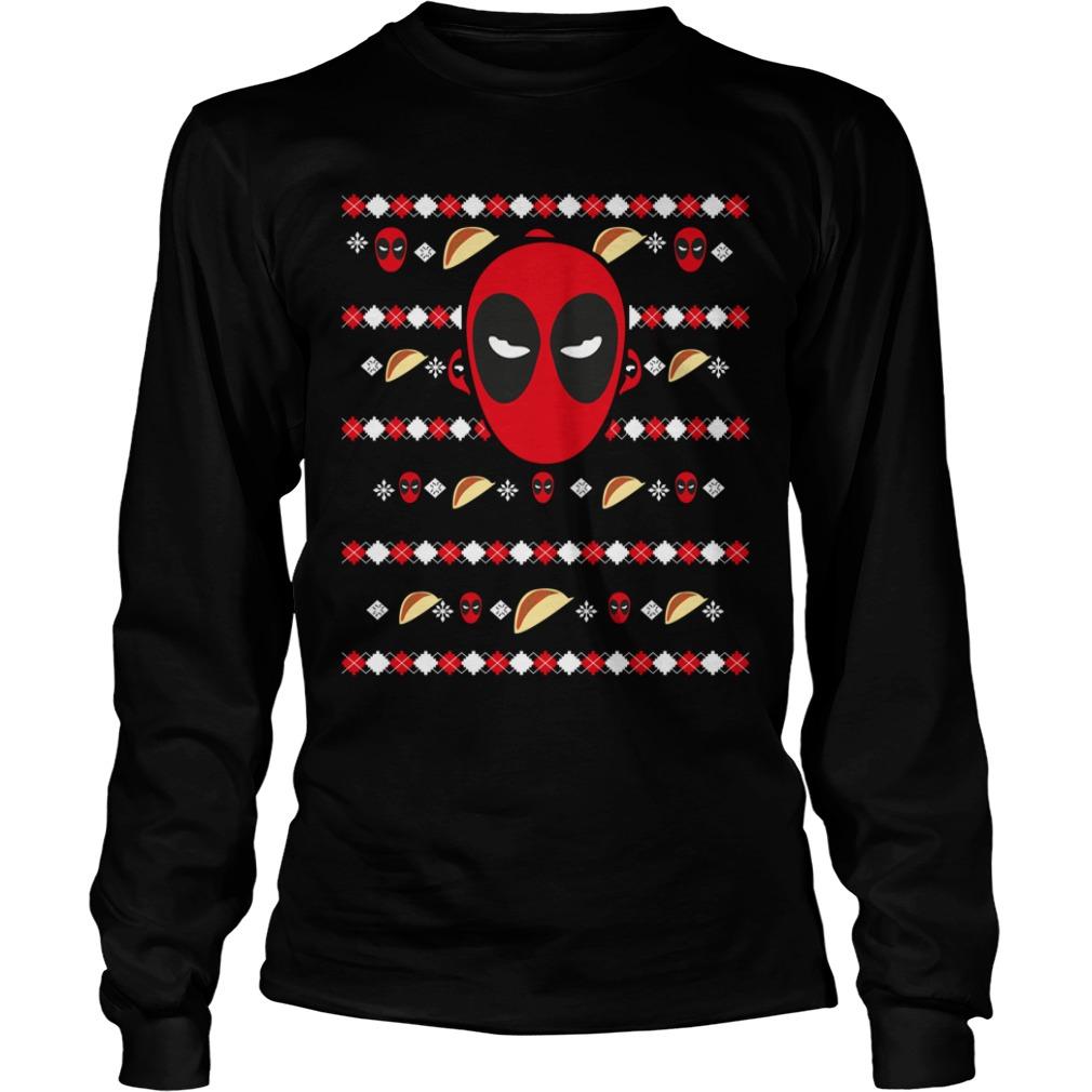 Deadpool's ugly Christmas Longsleeve Tee