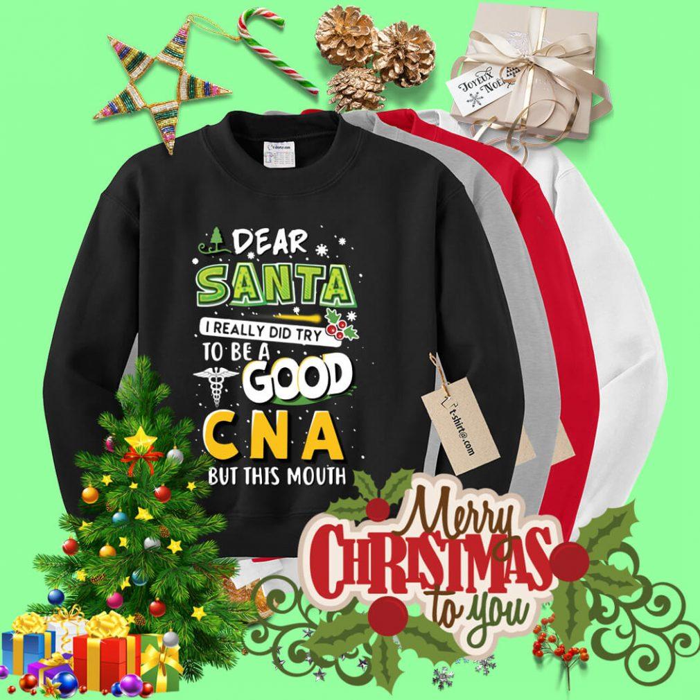 Dear Santa I really did try to be a good CNA Christmas shirt, sweater