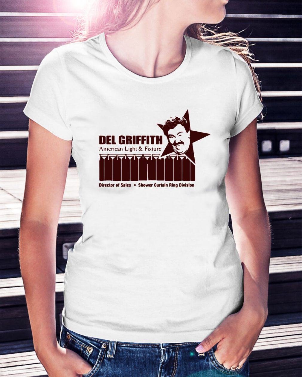 Del Griffith American light and fixture director of sales Ladies Tee