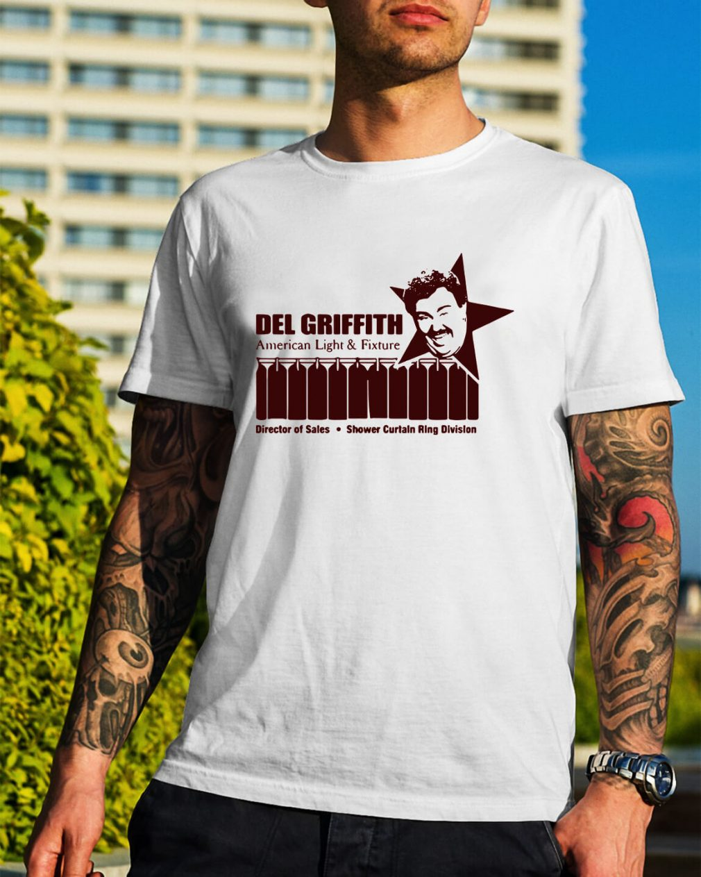Del Griffith American light and fixture director of sales shirt