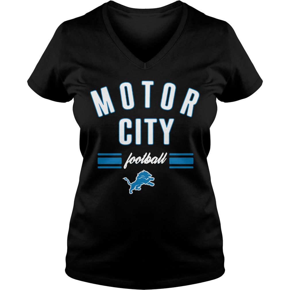 Detroit Lions motor city football V-neck T-shirt