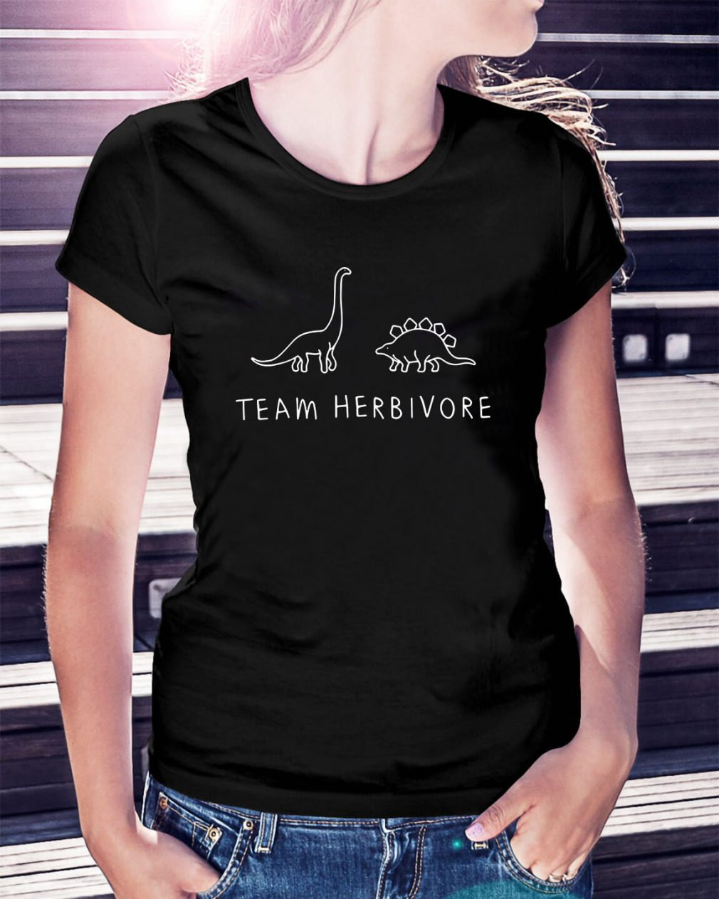 Dinosaur team herbivore Ladies Tee