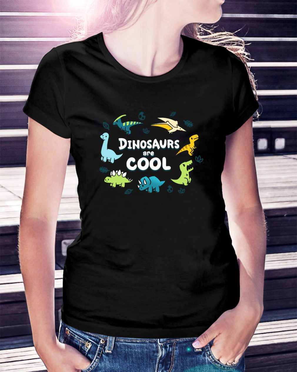 Dinosaurus are cool Ladies Tee