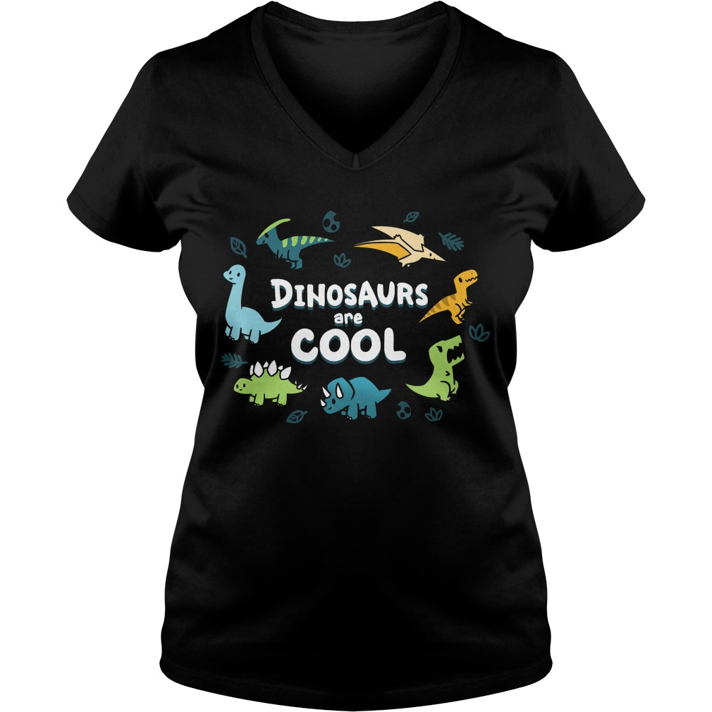 Dinosaurus are cool V-neck T-shirt