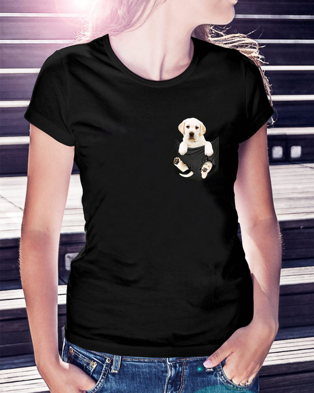 Dog in a pocket Ladies Tee