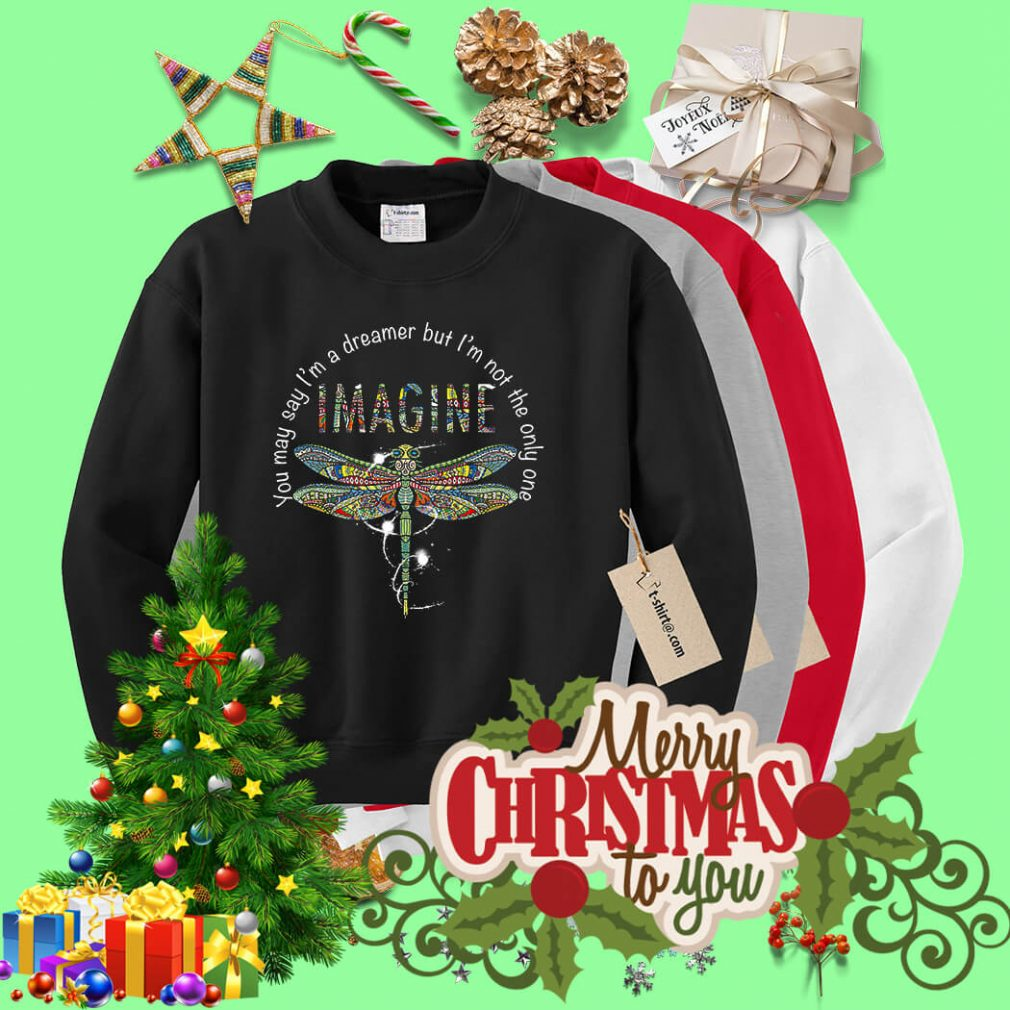 Dragonfly you may say I'm a dreamer but I'm not the only one imagine Sweater