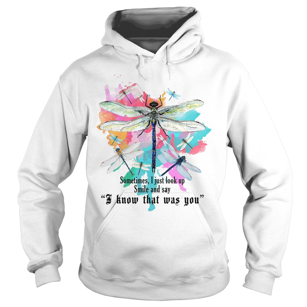 Dragonfly sometimes I just look up smile and say I know that was you Hoodie