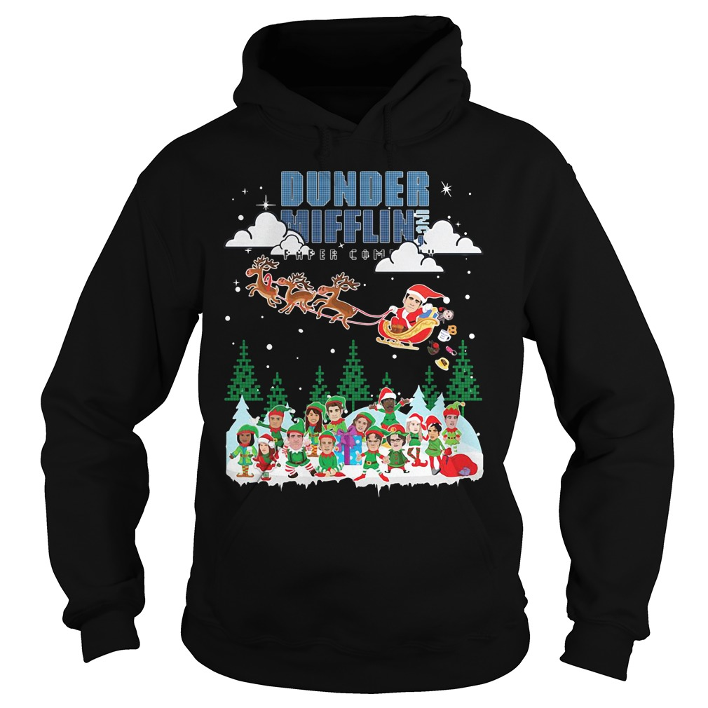 Dunder Mifflin Inc Paper Company Santa Christmas Hoodie