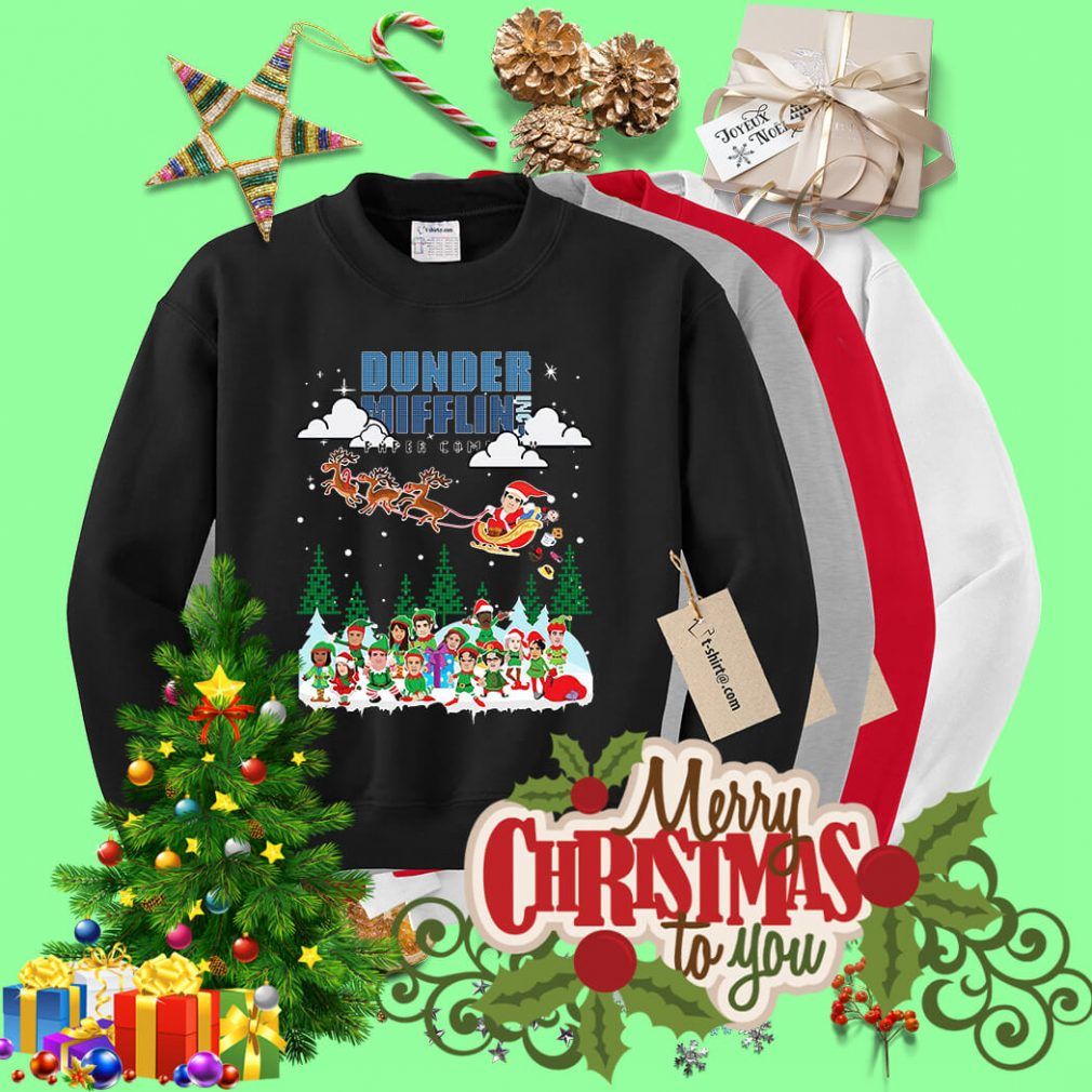 Dunder Mifflin Inc Paper Company Santa Christmas shirt, sweater
